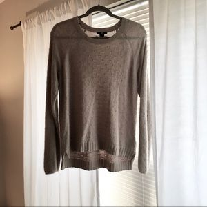 H&M Scoop Neck Tan Sweater